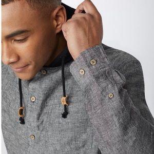 Tentree men's button up hoodie XXL NEW